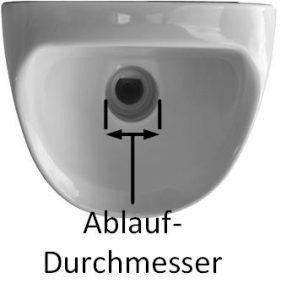 Urinal Ablauf-Durchmesser