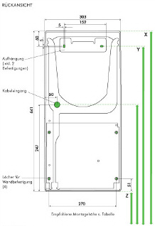 Airblade ab06 Montagezeichnung Daten Rückansicht