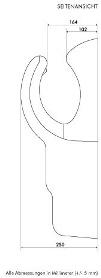 Airblade ab06 Montagezeichnung Daten seitenansicht