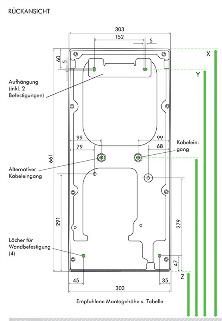 Airblade ab07 Rückansicht montagezeichnung