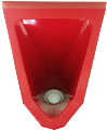 Edelstahl Urinal ExpliCit-Color rot innen Bild