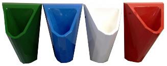Edelstahl Urinale ExpliCit Color 4 Farben