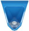 Edelstahl Urinal ExpliCit Color blau innen