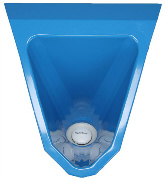 wasserlose Urinale Edelstahl Urinal ExpliCit Color blau innen Bild