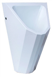 Edelstahl Urinal ExpliCit Color weiss