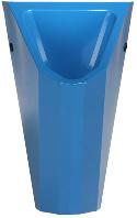 wasserloses Edelstahl Urinal ExpliCit Color blau