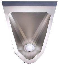 wasserloses Urinal ExpliCit Edelstahl von oben
