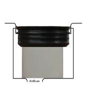 Waterless Urinal Adapter einsetzen Modellzeichnung