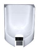 Waterless Urinal Adapter Set einsetzen